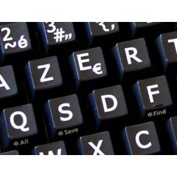 French AZERTY Large Lettering Upper case keyboard stickers
