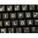 German Large Lettering Upper case keyboard stickers