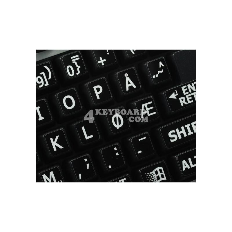 Norwegian Large Lettering keyboard stickers