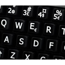 Norwegian Large Lettering keyboard stickers