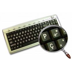 Portuguese Large Lettering keyboard stickers