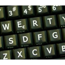 Spanish Latin American Large Lettering keyboard stickers