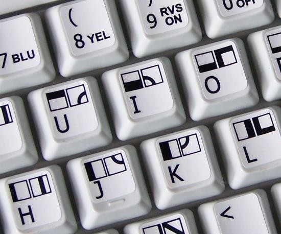 Commodore 64 non transparent keyboard stickers
