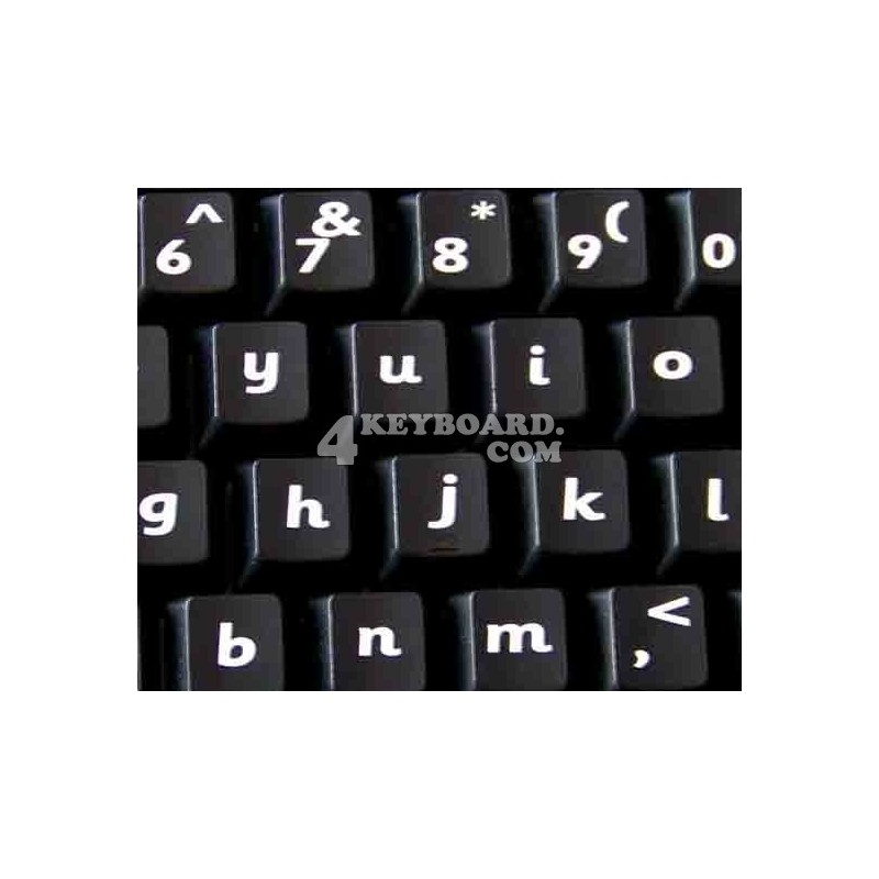 English US (Sassoon) non transparent keyboard stickers