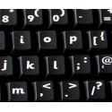 English UK (Sassoon) non transparent keyboard stickers