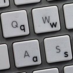 Apple English Lower case transparent keyboard sticker