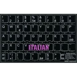 Italian non transparent keyboard  stickers