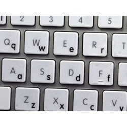 Apple English Lower case transparent keyboard sticker