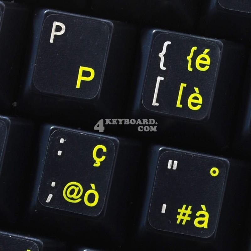 Italian transparent keyboard  stickers