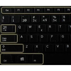 Function keys for desktop non-transparent keyboard sticker