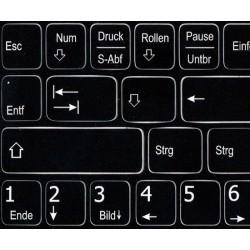 Function keys German language non-transparent keyboard sticker