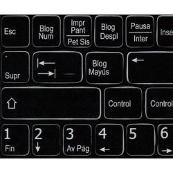 Function keys Spanish language non-transparent keyboard sticker