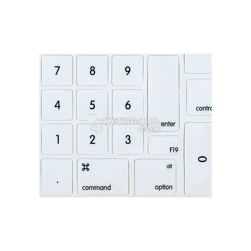 Extension set for Apple Keyboard with Numeric Keypad non-transparent keyboard sticker