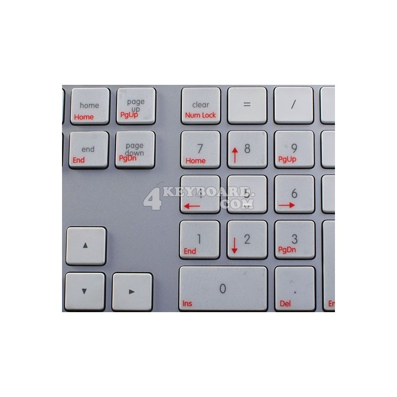 Boot Camp French AZERTY transparent keyboard sticker APPLE SIZE