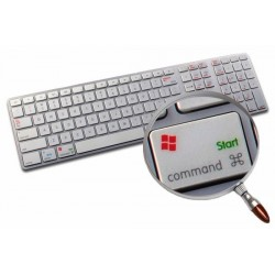 Boot Camp Danish transparent keyboard sticker APPLE SIZE