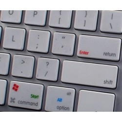 Boot Camp German transparent keyboard sticker APPLE SIZE