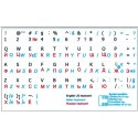 Russian-Italian-English non transparent keyboard  stickers