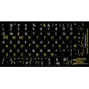 Spanish (Latin American) English non transparent keyboard stickers