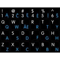 Apple Lithuanian English non-transparent keyboard sticker