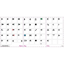 Avid Media Composer transparent keyboard sticker
