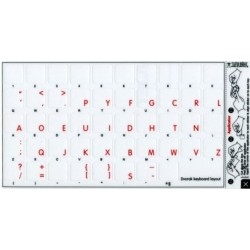 Apple Dvorak transparent keyboard sticker