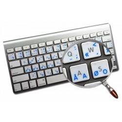 Apple Dvorak Programmer transparent keyboard sticker