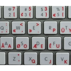 Apple Dvorak Programmer transparent keyboard sticker