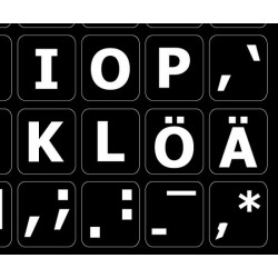 Swedish / Finnish Large Lettering keyboard stickers