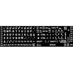 Swedish / Finnish Large Lettering keyboard stickers