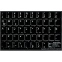 Spanish (Latin American) non transparent keyboard  stickers