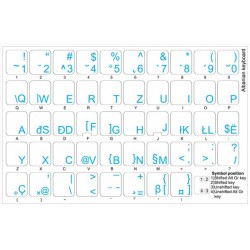 Albanian transparent keyboard stickers
