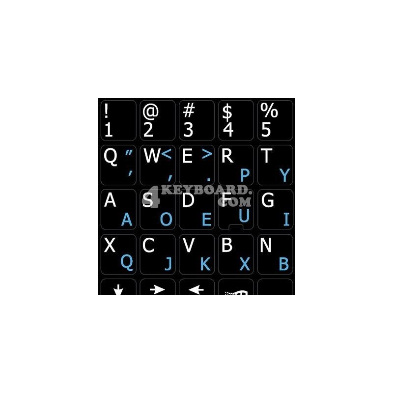 Dvorak English Notebook keyboard sticker