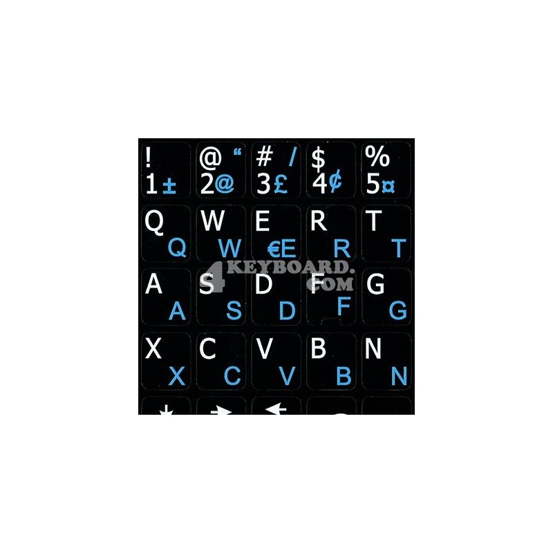 French QWERTY English Notebook keyboard sticker