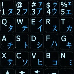 Japanese Katakana English Notebook keyboard sticker