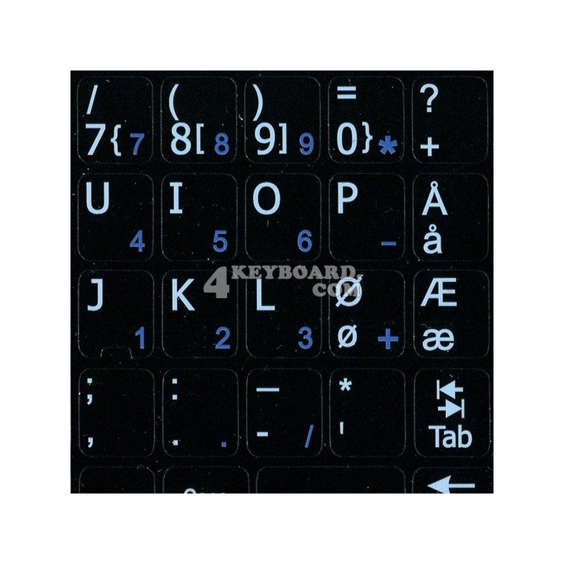 Norwegian Notebook keyboard sticker