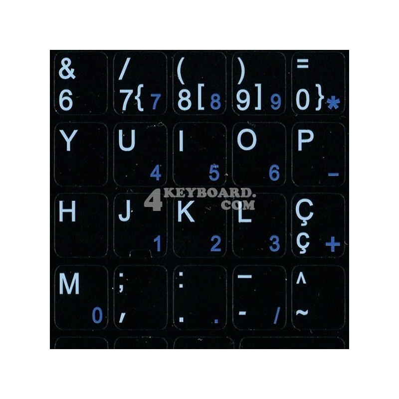 Portuguese Notebook keyboard sticker