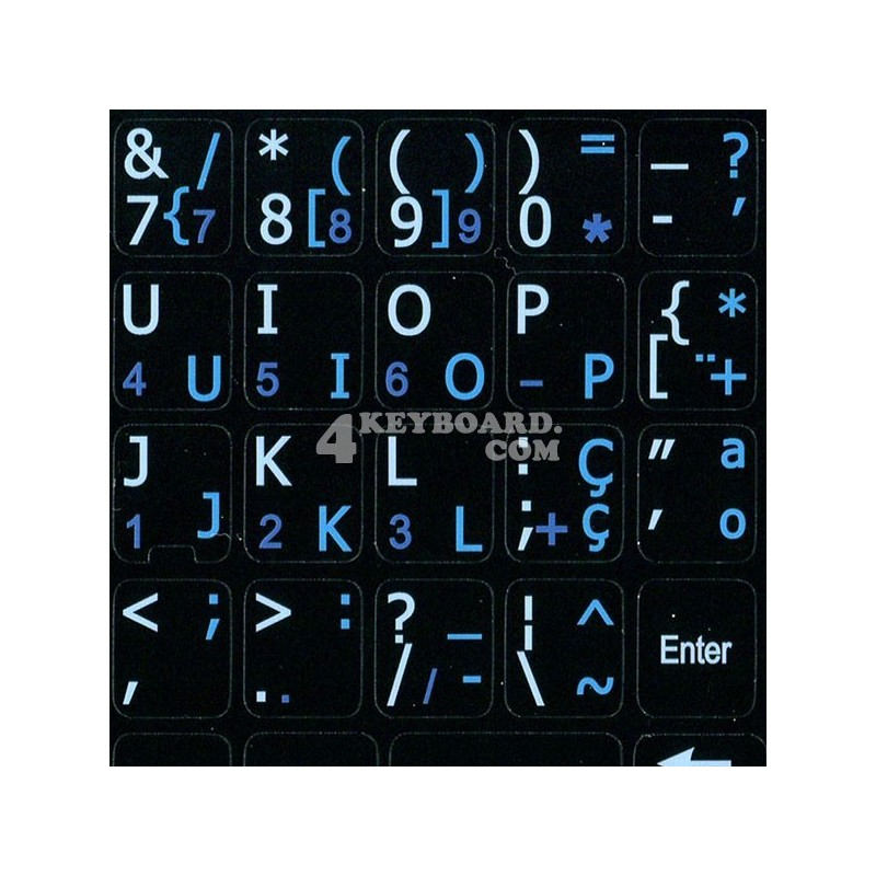 Portuguese English Notebook keyboard sticker