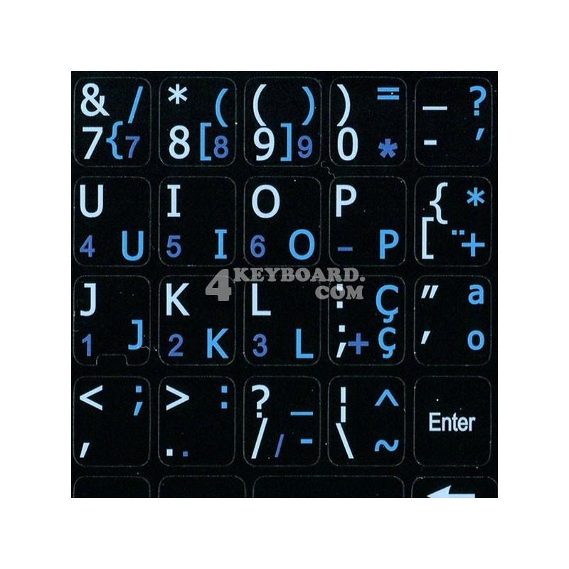 Portuguese English Notebook keyboard sticker