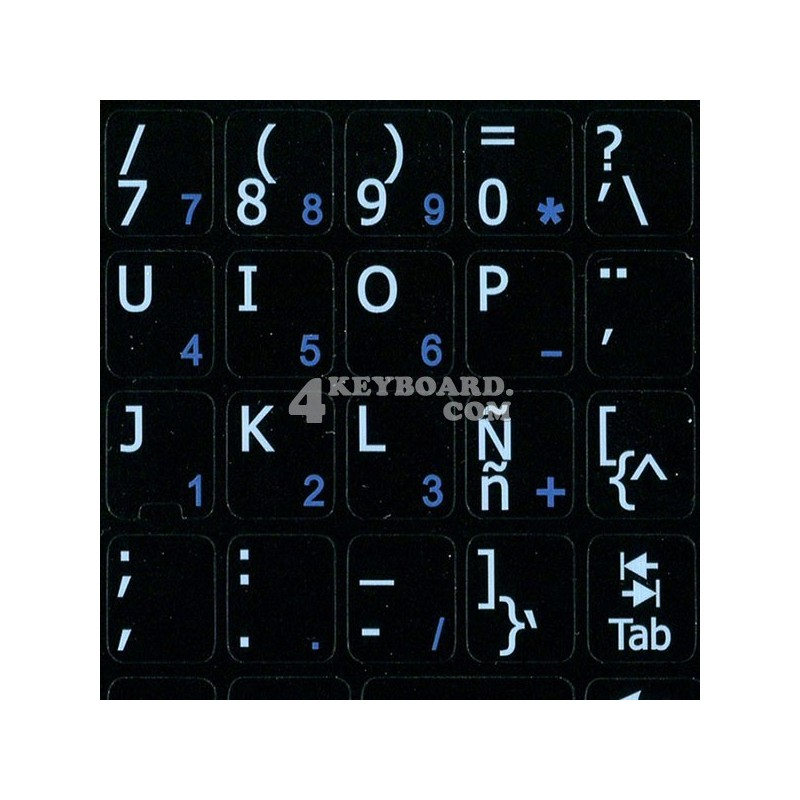 Spanish Latin American Notebook keyboard sticker
