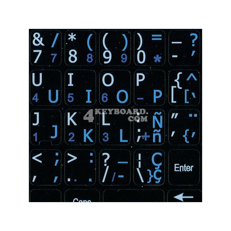 Spanish-English Notebook keyboard sticker