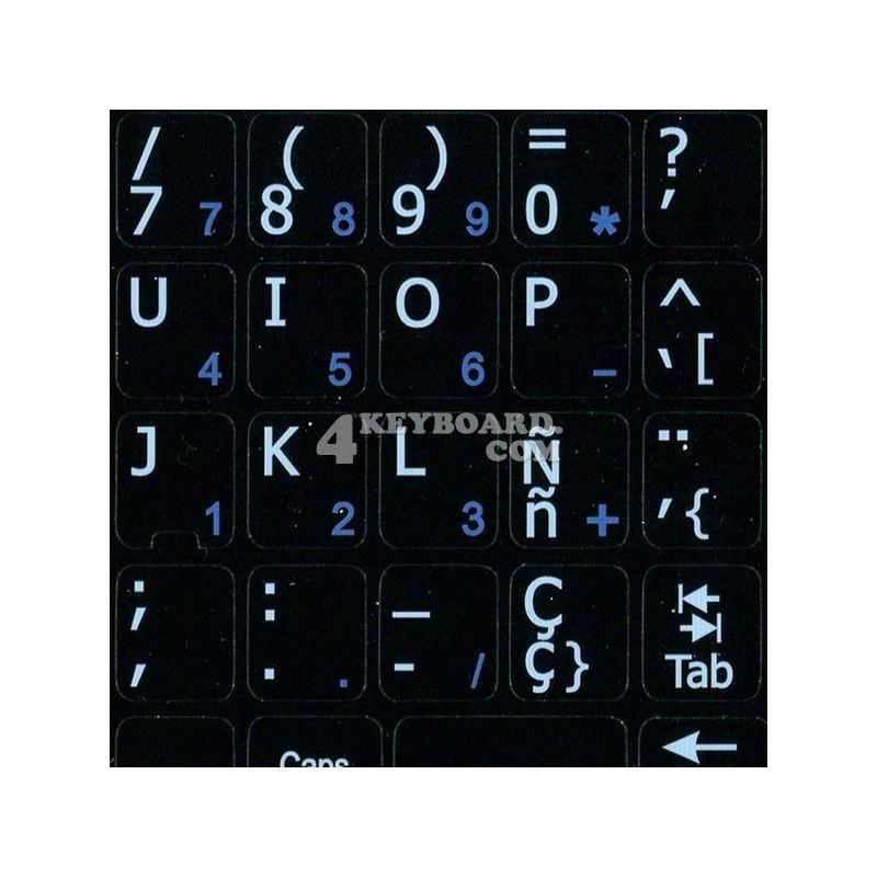Spanish Notebook keyboard sticker