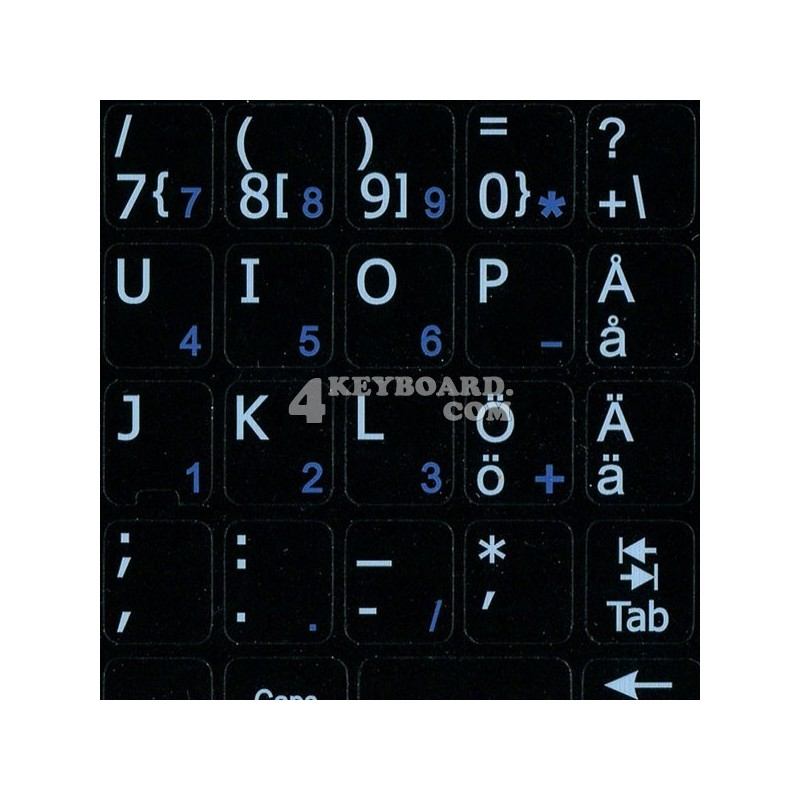 Swedish Finnish Notebook keyboard sticker
