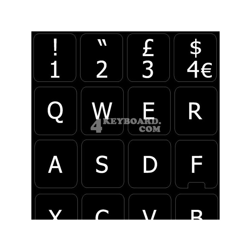 Replacement English UK keyboard sticker