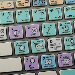 Adobe After Effects Galaxy series keyboard sticker