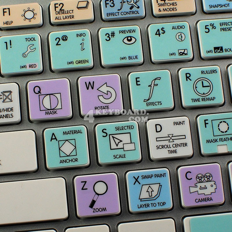 Adobe After Effects Galaxy series keyboard sticker