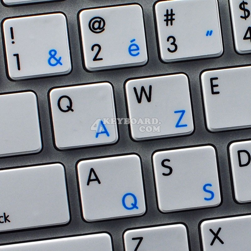 Apple French Belgian English non-transparent keyboard sticker