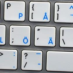 Apple Swedish Finnish English non-transparent keyboard sticker