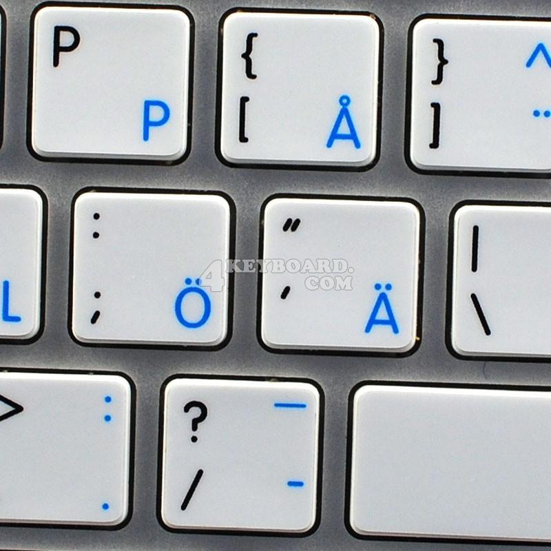 Apple swedish finnish english non transparent keyboard sticker