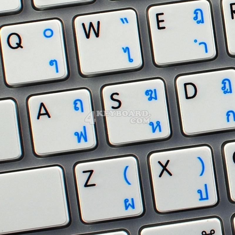 Apple Thai Kedmanee English non-transparent keyboard sticker
