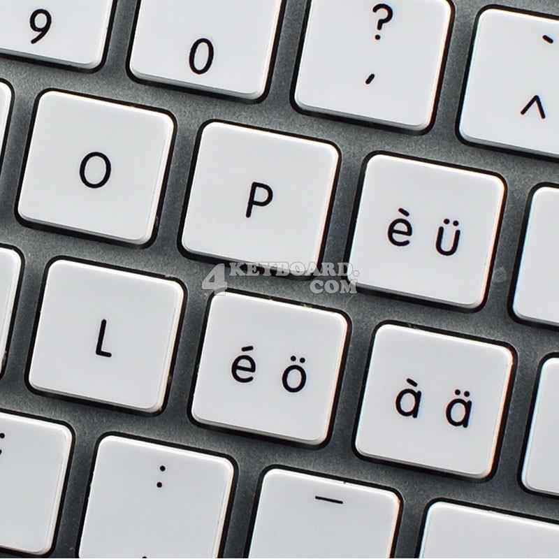 Apple Swiss multilingual non-transparent keyboard sticker